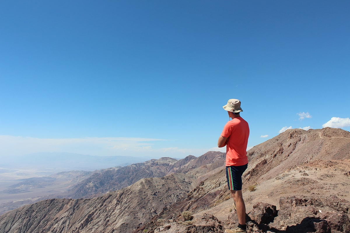 Man overlooks Dante's View in Death Valley National Park Nevada