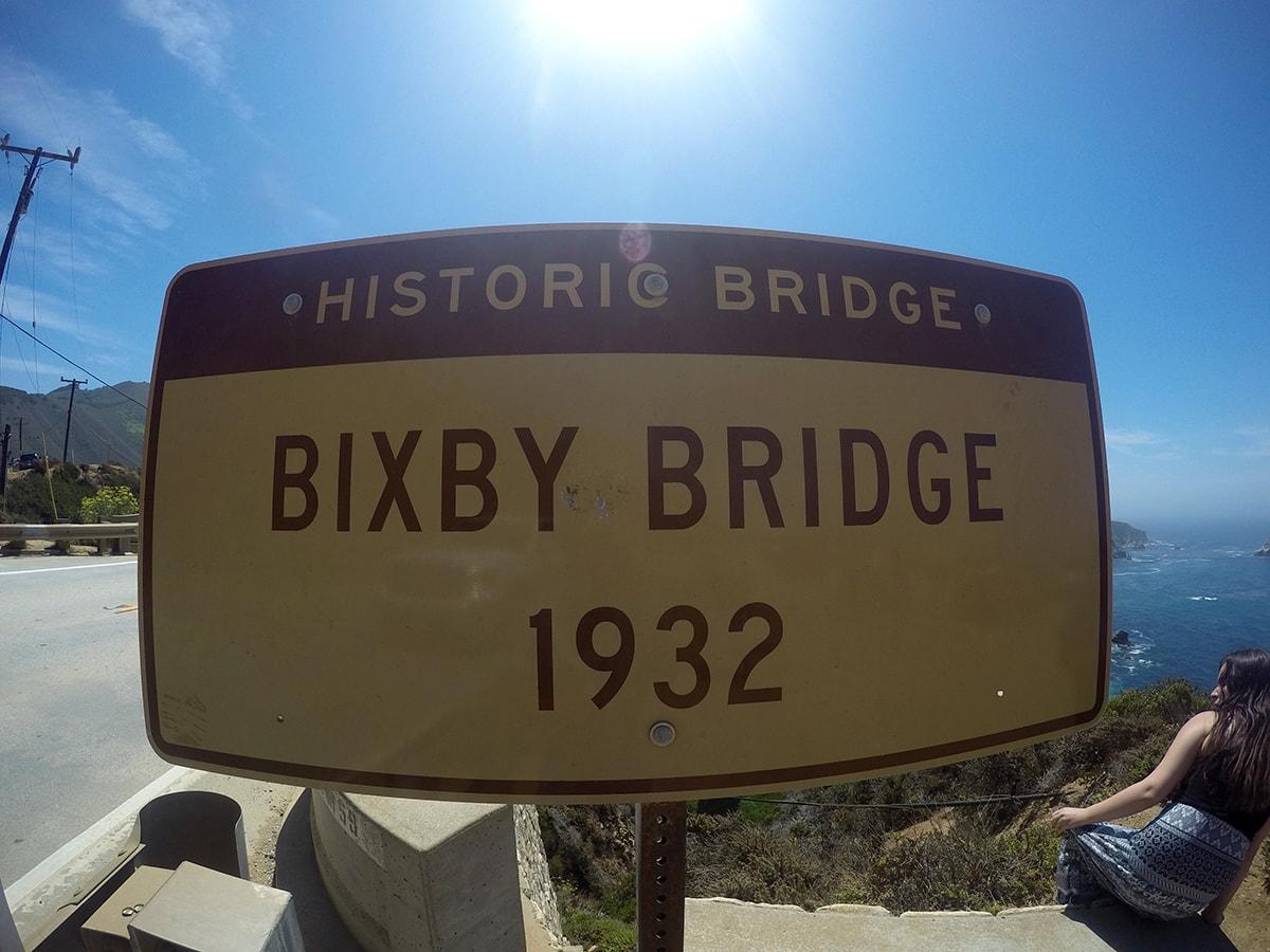 Bixby Creek Bridge Sign Pacific Coast Highway