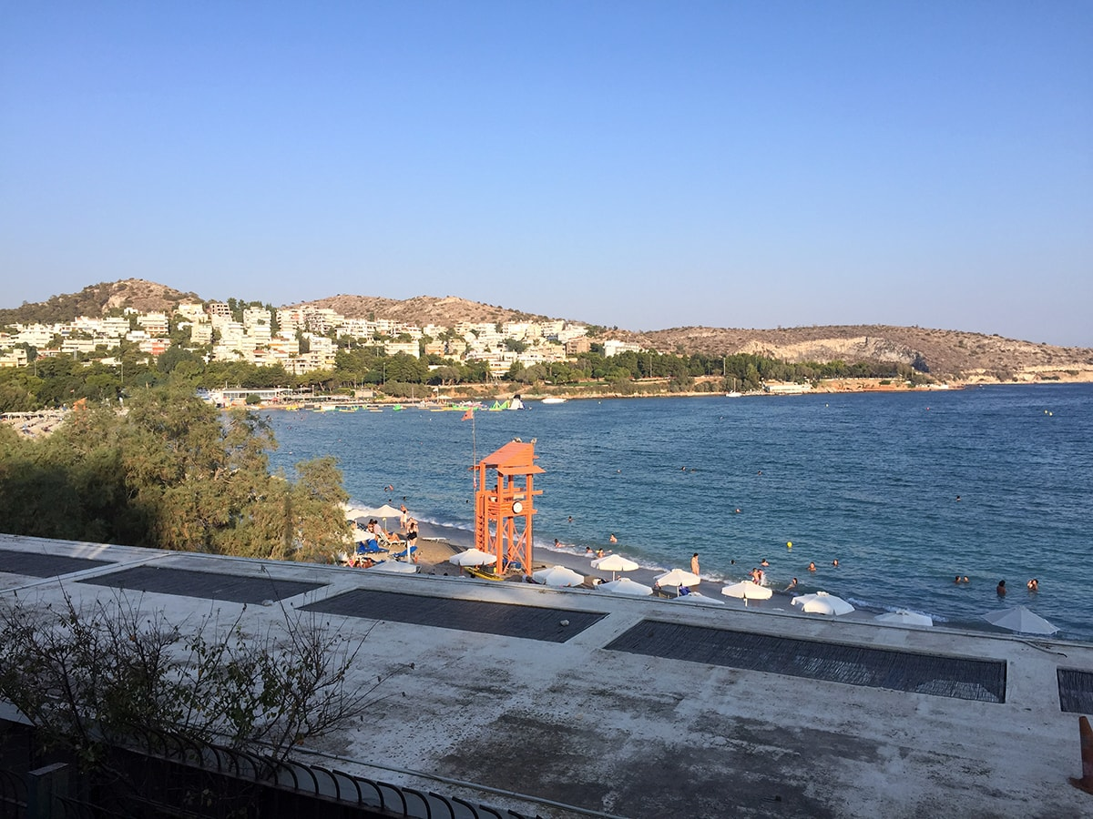 the coastline of Vouliagmeni, Greece