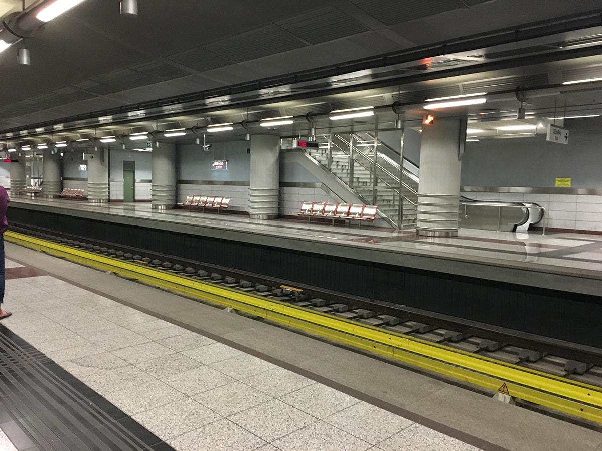 metro station in Athens, Greece