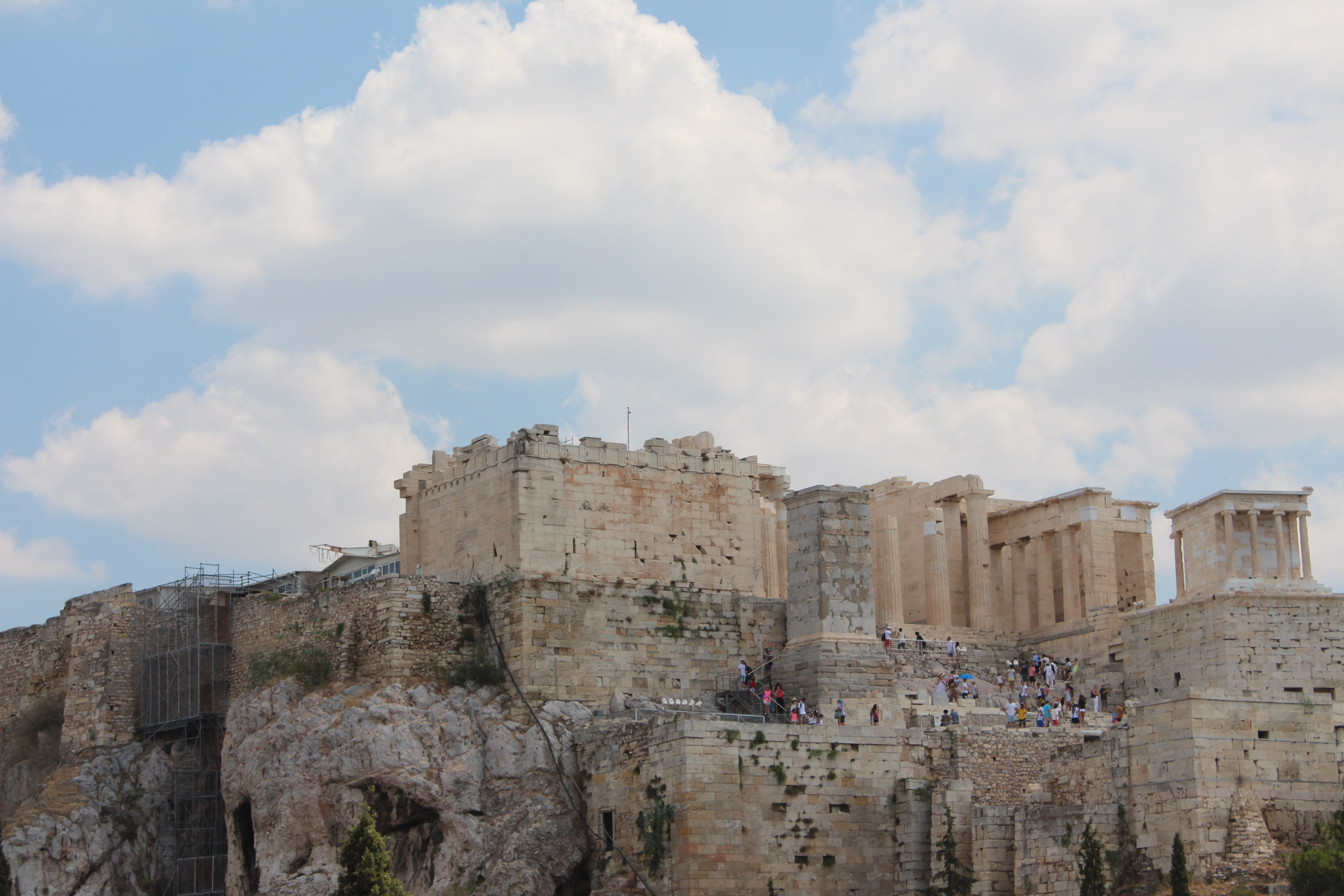 Propylaea of the Acropolis in Athens, Greece