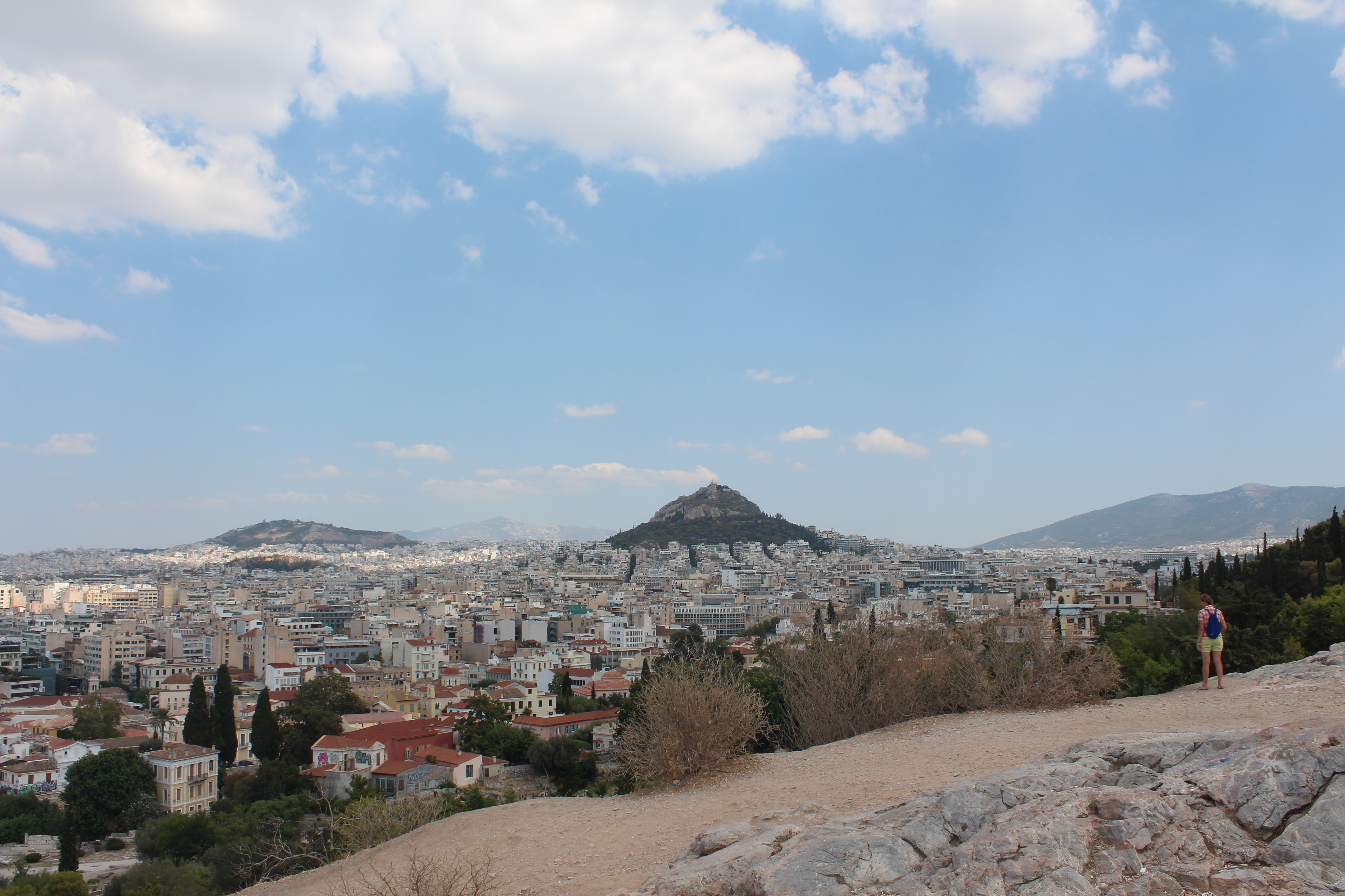 The skyline of Athens, Greece