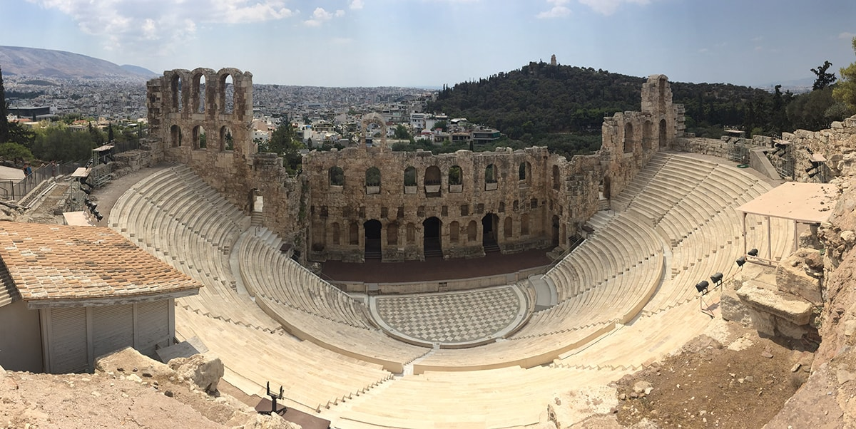 Herodes theatre at the Acropolis Athens, Greece