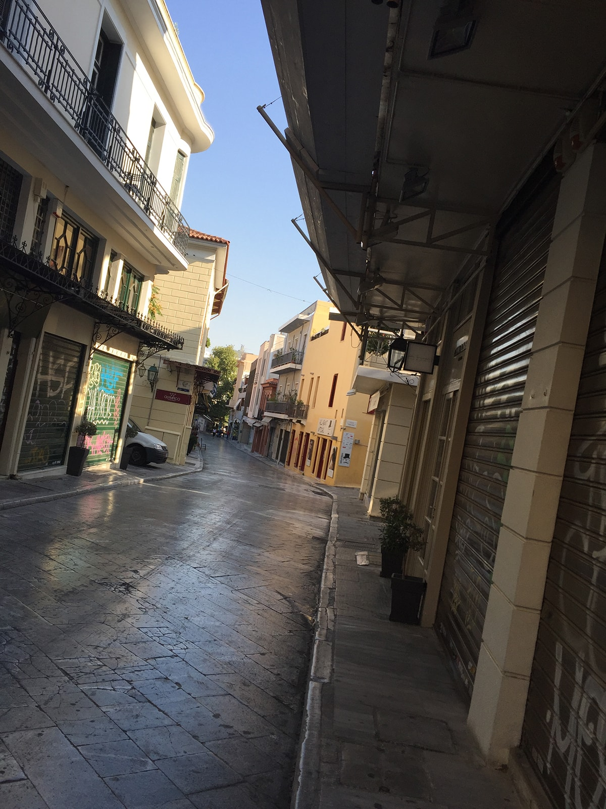 Street in the Greek neighborhood of Plaka in Athens