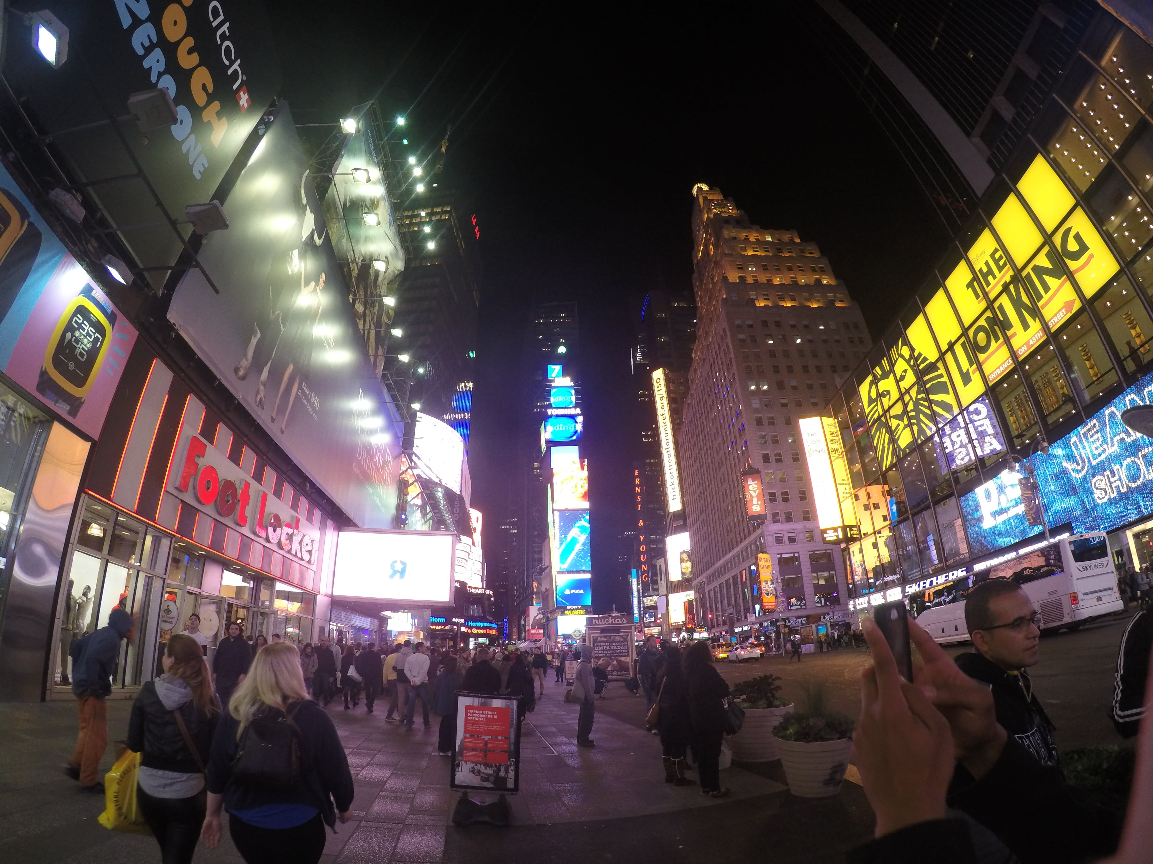 Times Square New York City at night