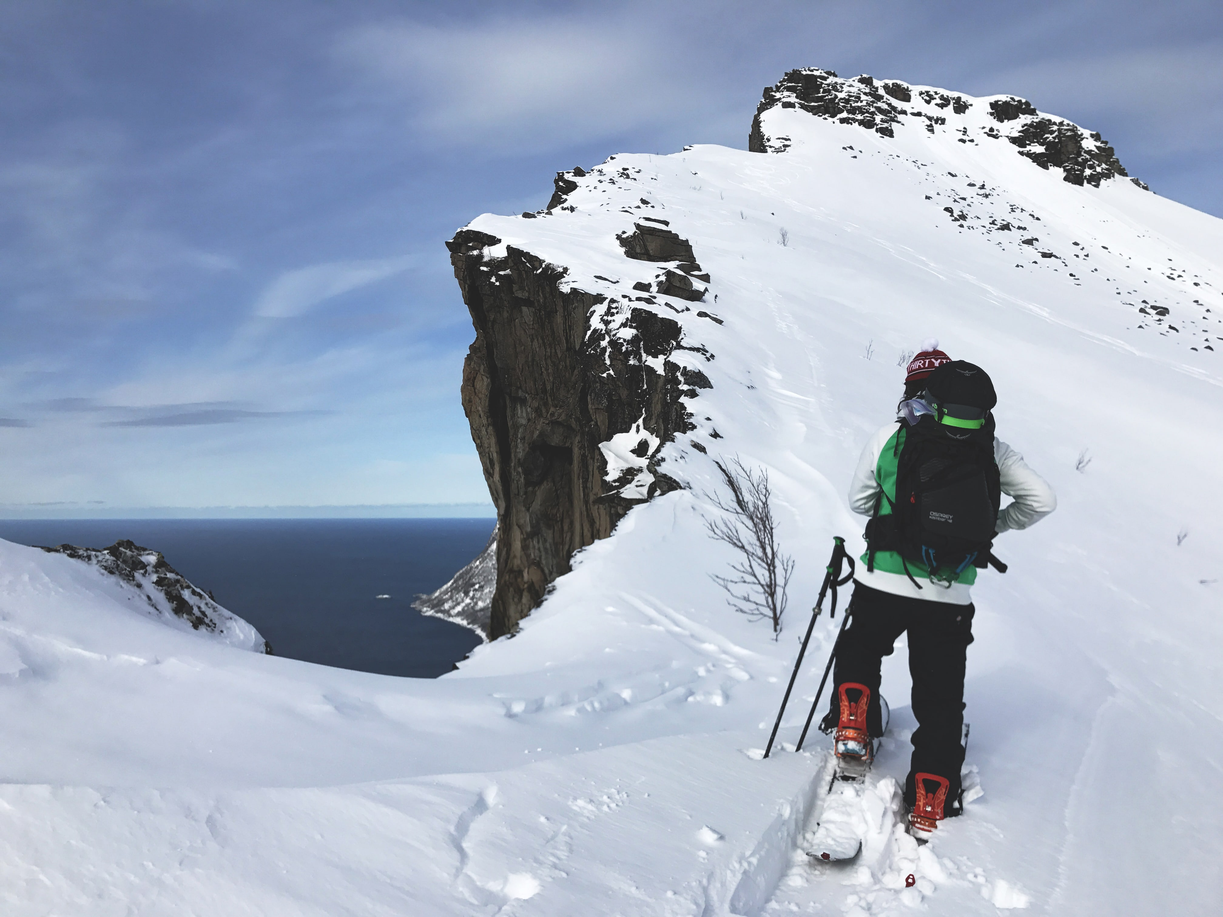 on the way up to Hesten, Senja.